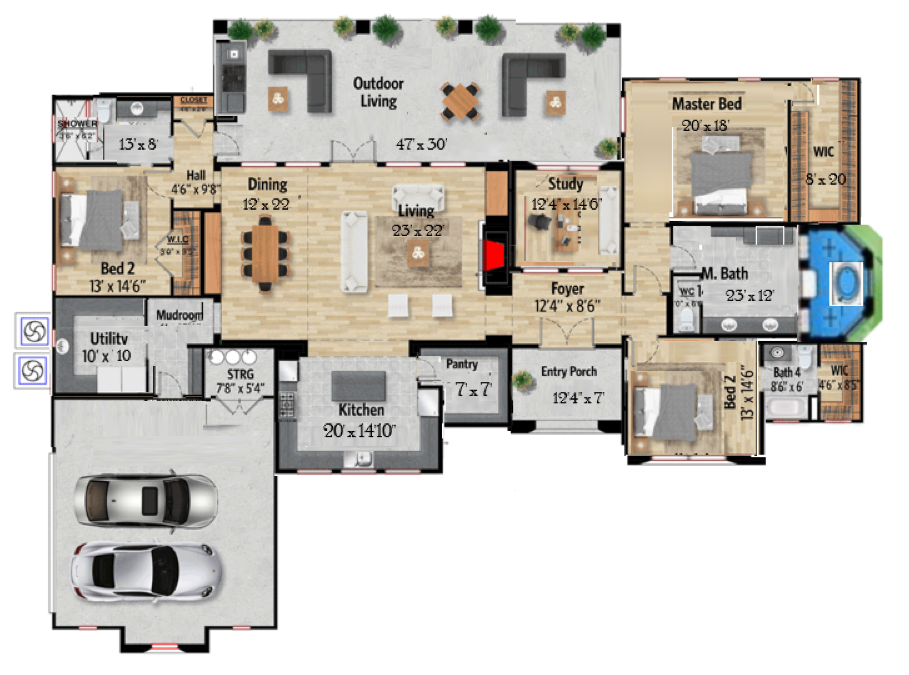 Perfect House Plan Bedroom House Plans House Plans House Floor Plans