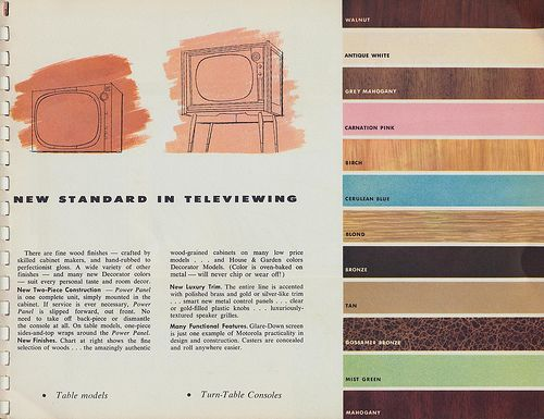 Colors For A 1956 Motorola Tv Console A Good Reference For Midcentury Wood Paints Stains And Finishes Retro Renovation Color Repainting Cabinets