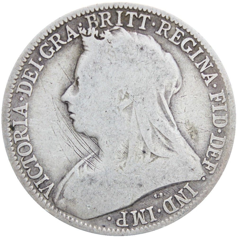 Great Britain Queen Victoria 1898 Two Shillings Florin