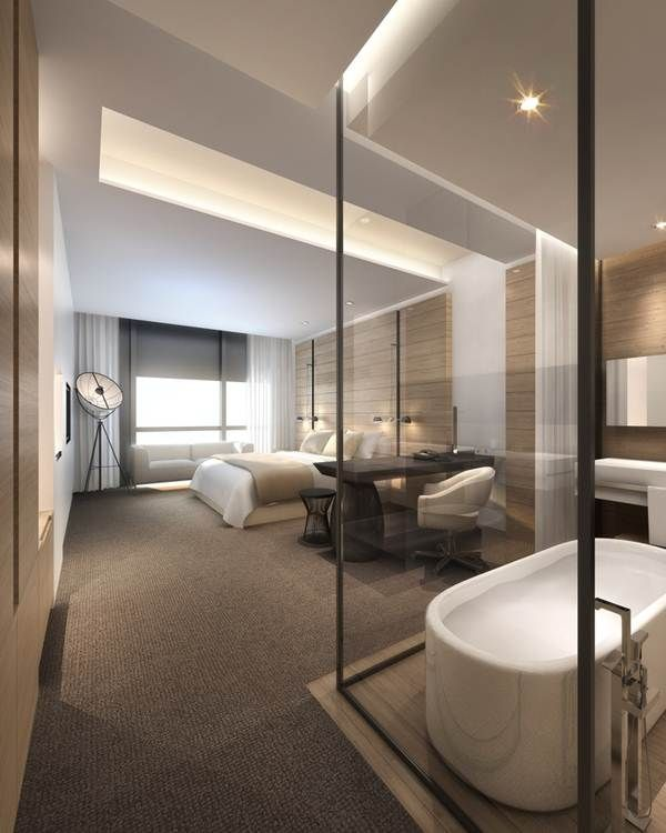 Diferentes ba os en suites que te enamorar n deco for Camera letto design