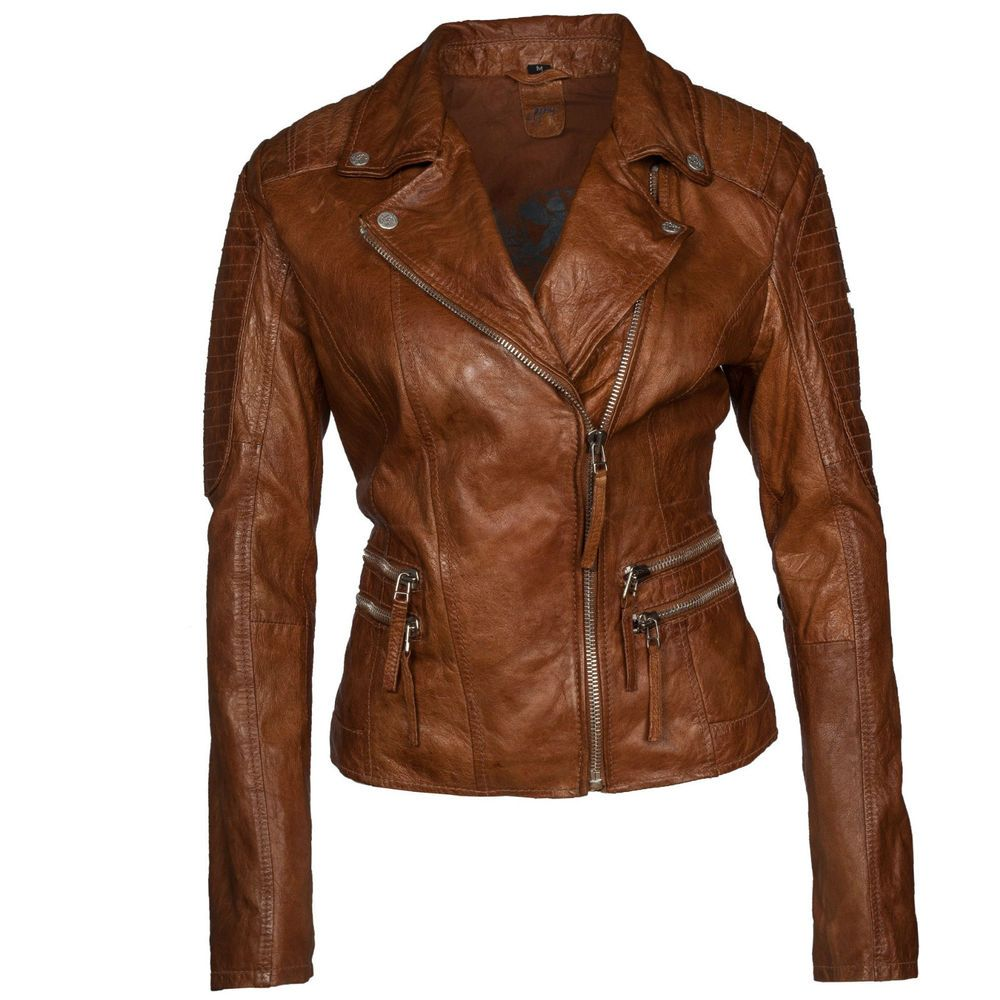 gipsy mauritius damen lederjacke biker jacke echtleder shanny 2 braun cognac. Black Bedroom Furniture Sets. Home Design Ideas