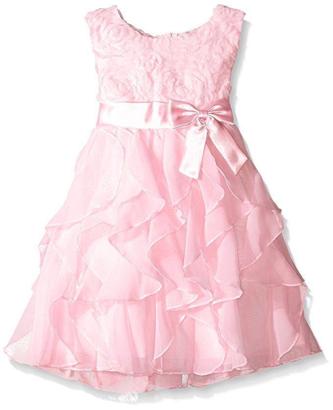 AMERICAN PRINCESS Sequin Soutache Ruffle Cascade Chiffon Dress Ice Blue 2T 3T 4T