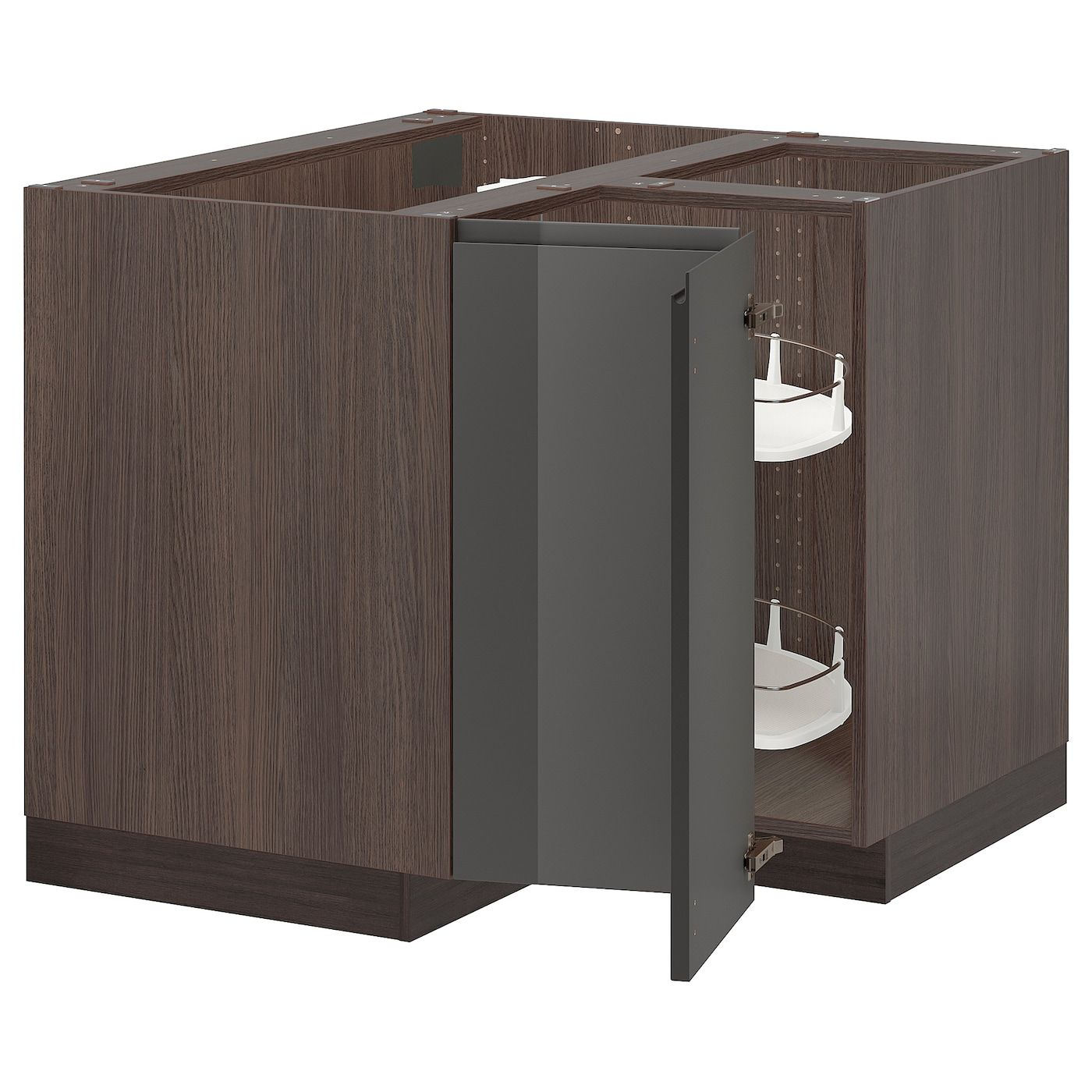 Best Ikea Sektion Wood Effect Brown Corner Base Cabinet With 400 x 300