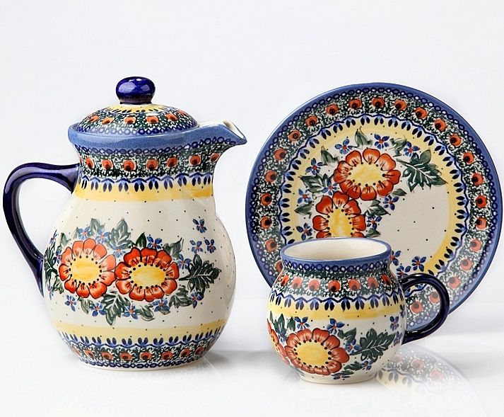 Porcelana Bolesławiec Polish Ceramics Folk Polish Pottery