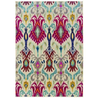 Vibrant Bohemian Ivory Red Area Rug 4 X 5 9 Ping Great Deals On Style Haven 3x5 4x6 Rugs