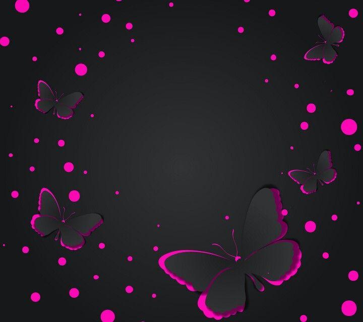 Pink Butterfly Wallpaper: Pink & Black Butterflies