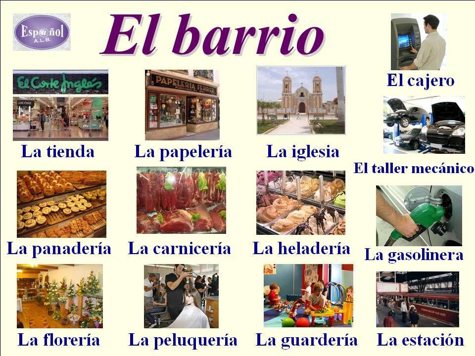 Vocabulario de la ciudad. | Español | Pinterest | Spanisch, Spanisch ...