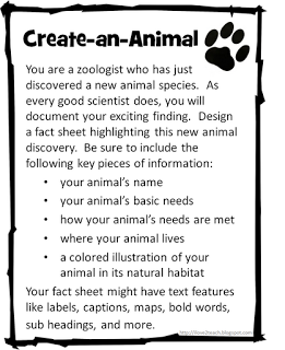 create an animal create a plant 2nd grade science pinterest