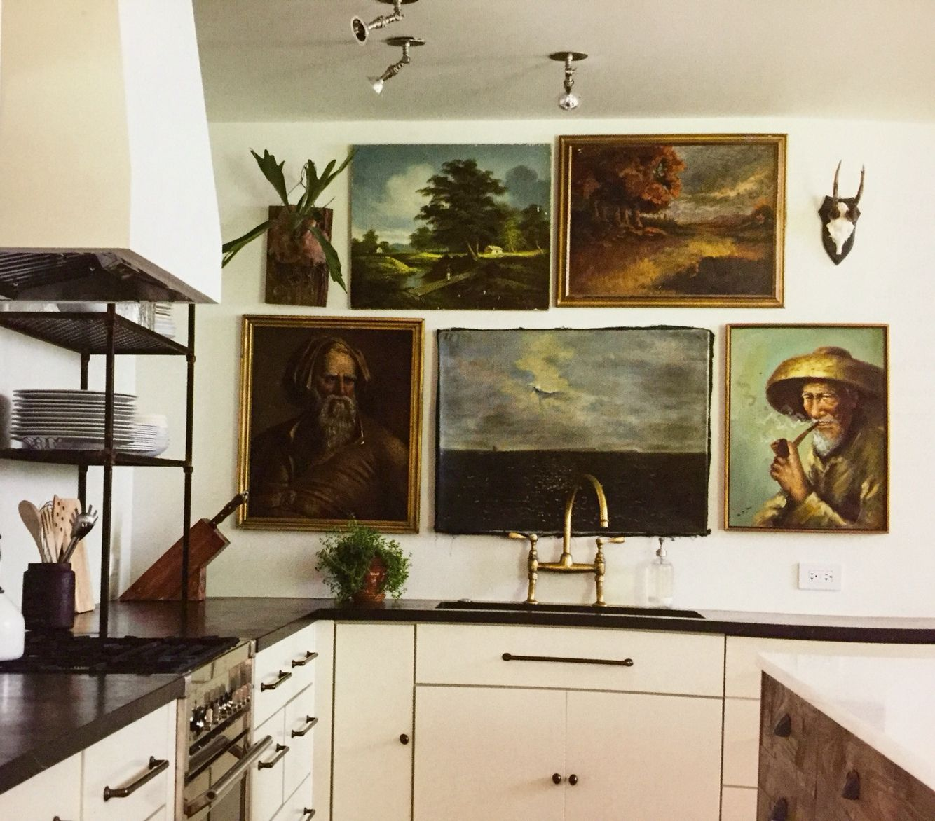 Gallery wall in kitchen