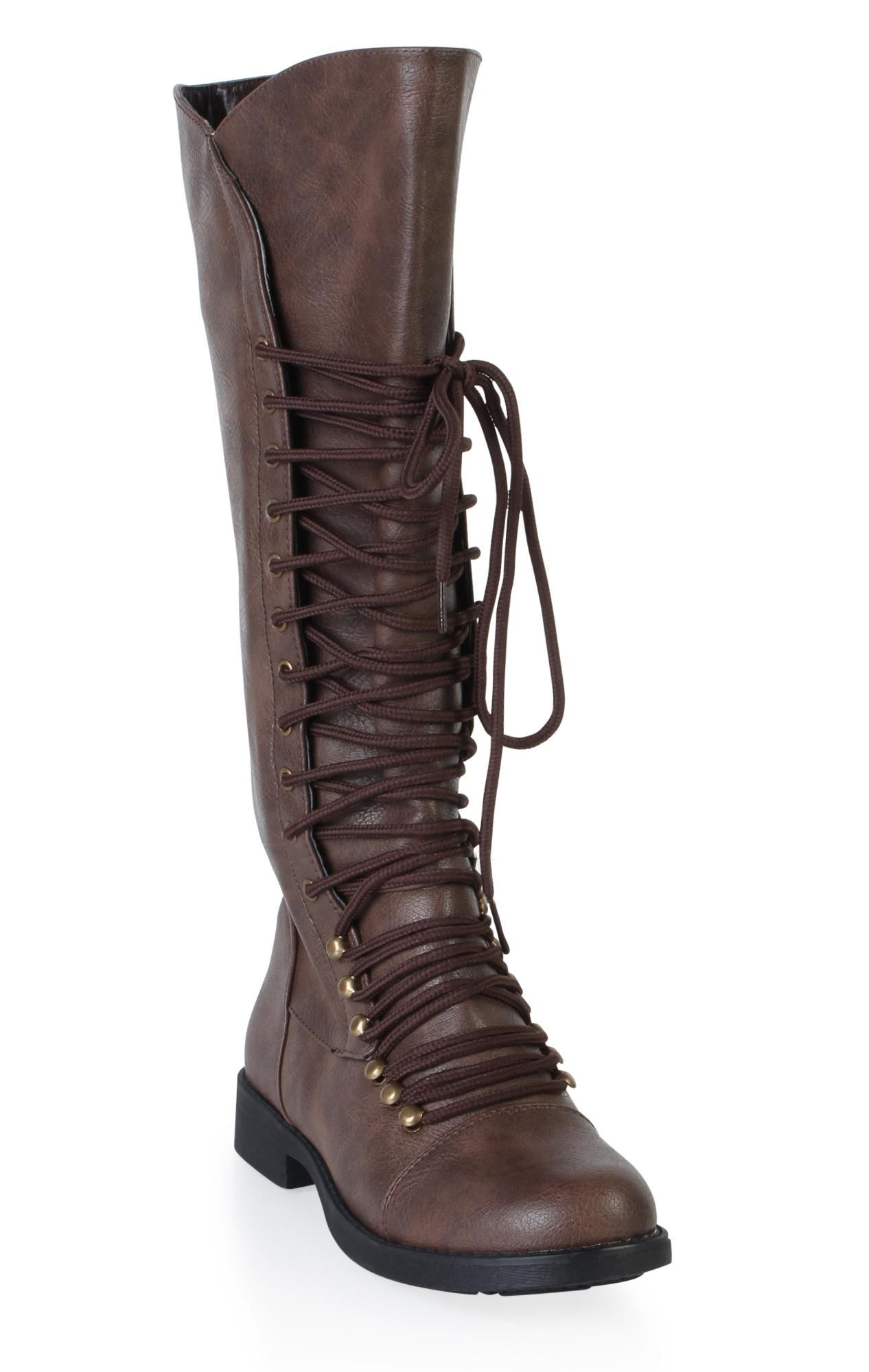 flat lace up combat boot