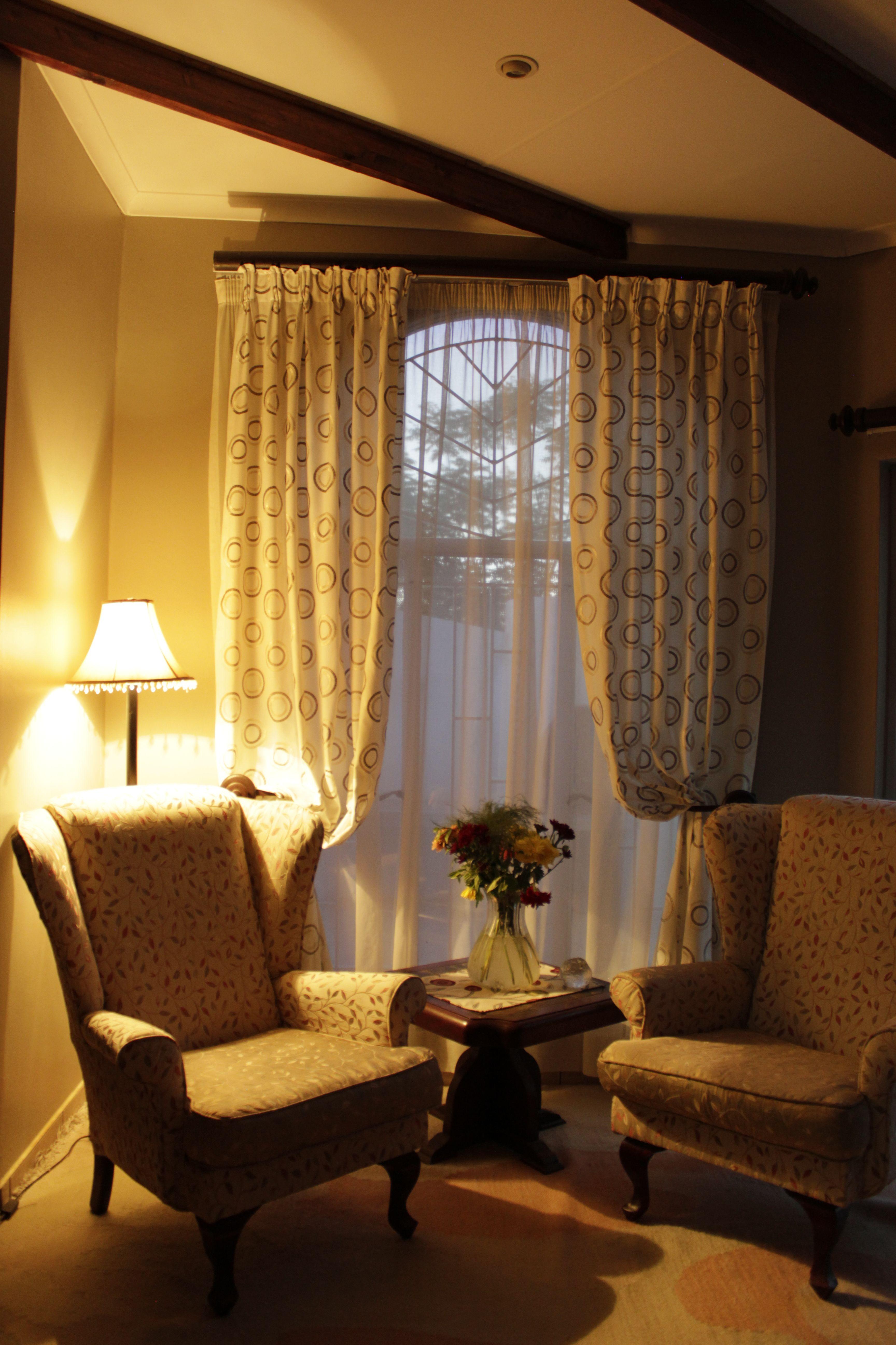 Stylish sitting room drape curtains with tie back bespoke custom ...