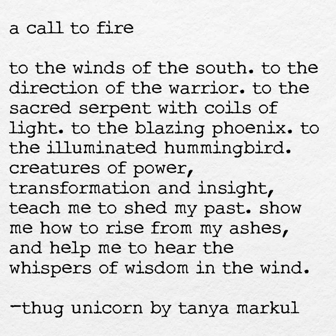 To the direction of the south. To the element of FIRE. To the violet flame that ignites passion, courage, transformation, power and insight. Aho! To fire! @thugunicorn @theurbanhowl @bodypositivewarrioress  Join me on FB: http://bit.ly/1Vi1nsy  New book alert: bit.ly/1KFimeW  Thug Mug #1: http://bit.ly/28ScUKC