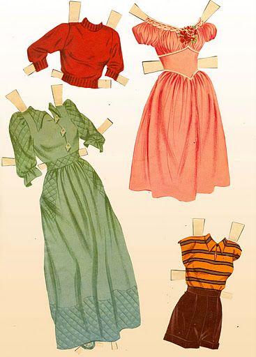 1950 June Allyson paper doll clothes #5 / eBay