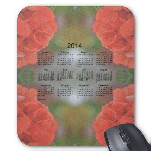 Salmon Geranium 2014 Calendar Mousepad from Calendars by Janz $12.35