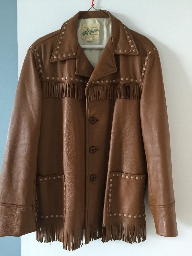 vintage 70s BUCKSKIN DEER SKIN FRINGE jacket rancher COWBOY Rockabilly UNISEX #MidWestern #Everyday