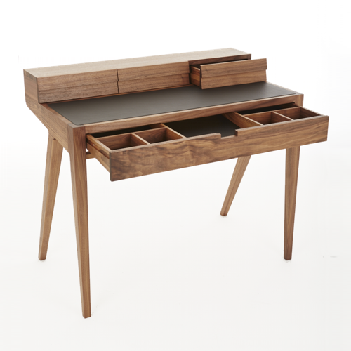 Discover All The Information About Product Traditional Dressing Table Oak Leather Walnut KINGSTON