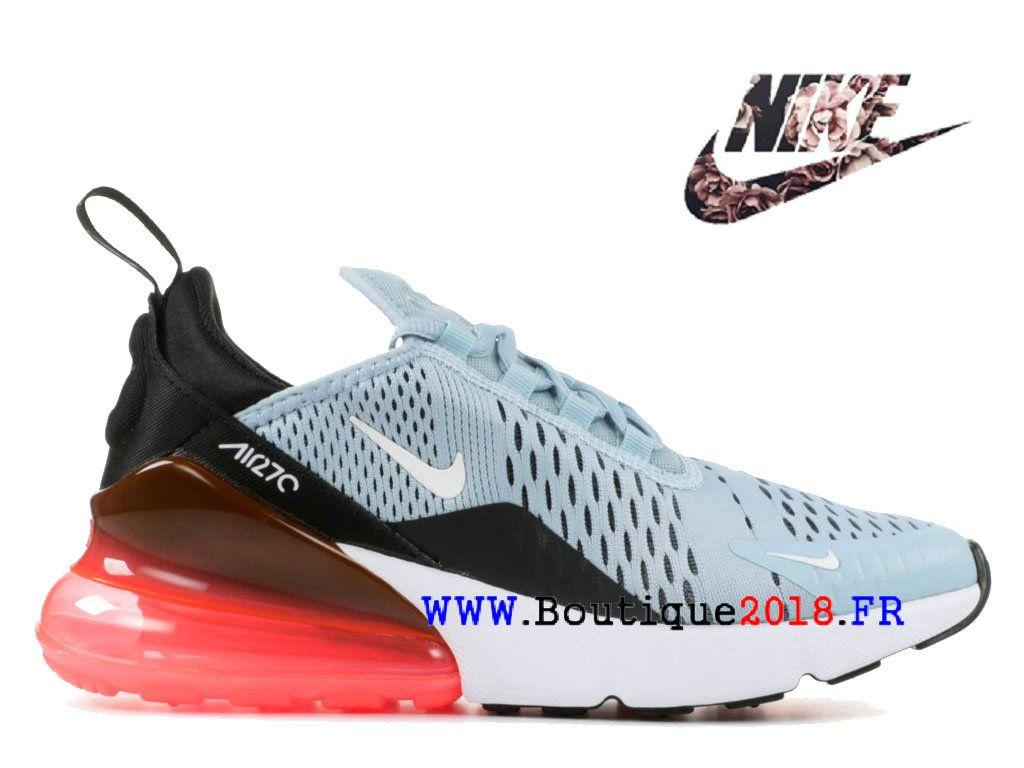 82d56780b7d81 Nouveaux Nike Air Max 270 GS Chaussures Pas Cher Prix Femme Bleu Noir Brun