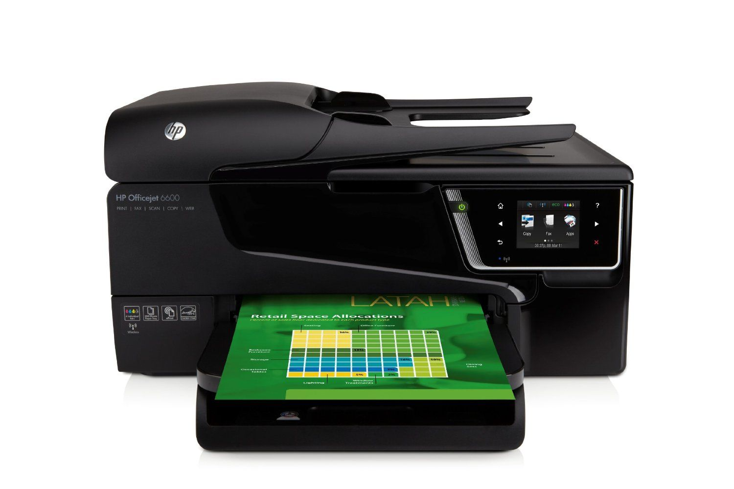 Hp All In One Officejet 6600 In Office Wireless Color Photo Printer With Scanner Copier And Fax Multifunction Printer Wireless Printer Hp Officejet