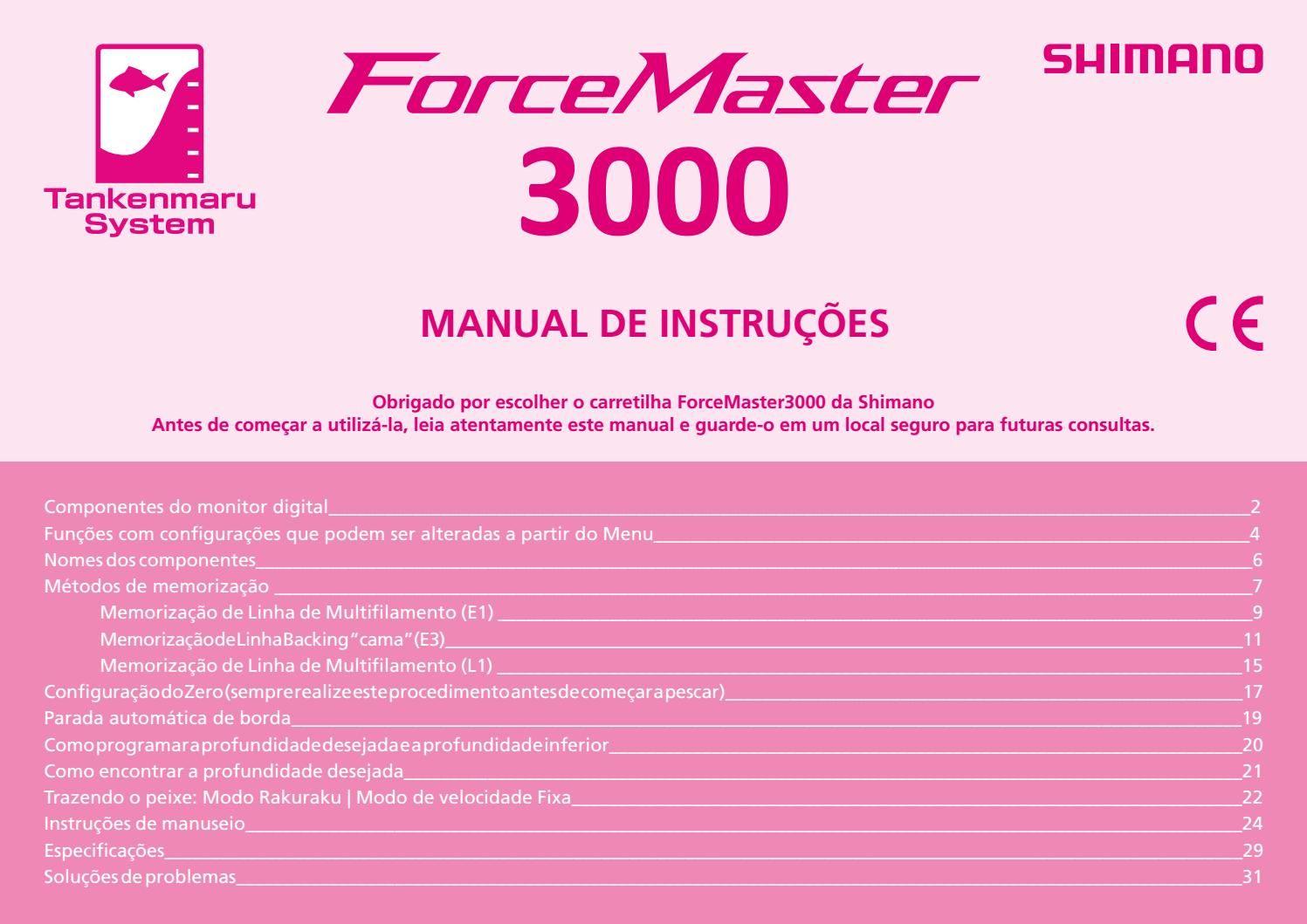 english manual for shimano beastmaster 9000