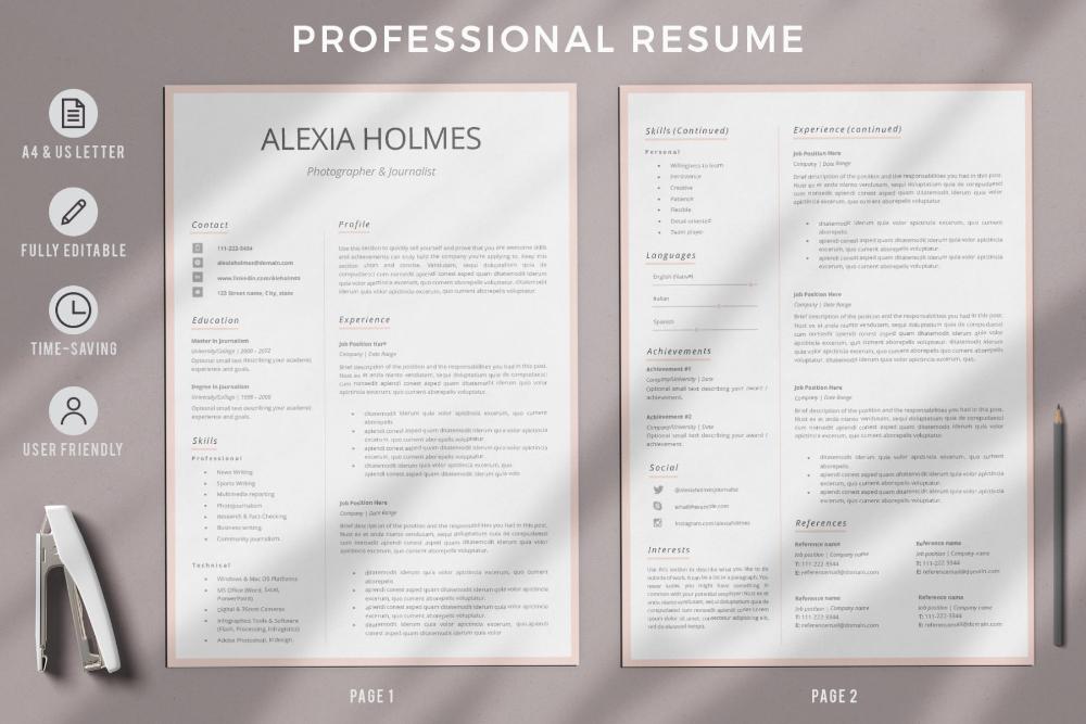 Modern Resume Cv Template Instant Download Resume Template Graphicfy In 2021 Downloadable Resume Template Resume Cover Letter Examples Resume Design
