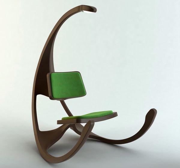 Cadeira de balanço e leitura.  Qual sala não ficaria mais charmosa com uma destas?!