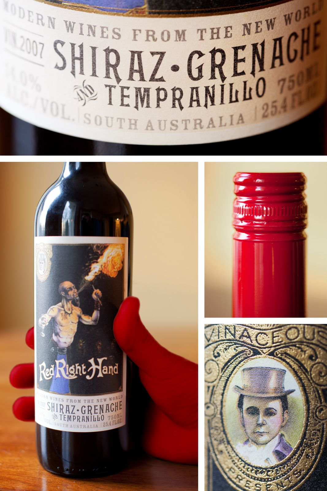 Vinaceous Red Right Hand Shiraz Grenache Tempranillo 2007 Mclaren Barossa Valley Australia Tempranillo Wines Grenache