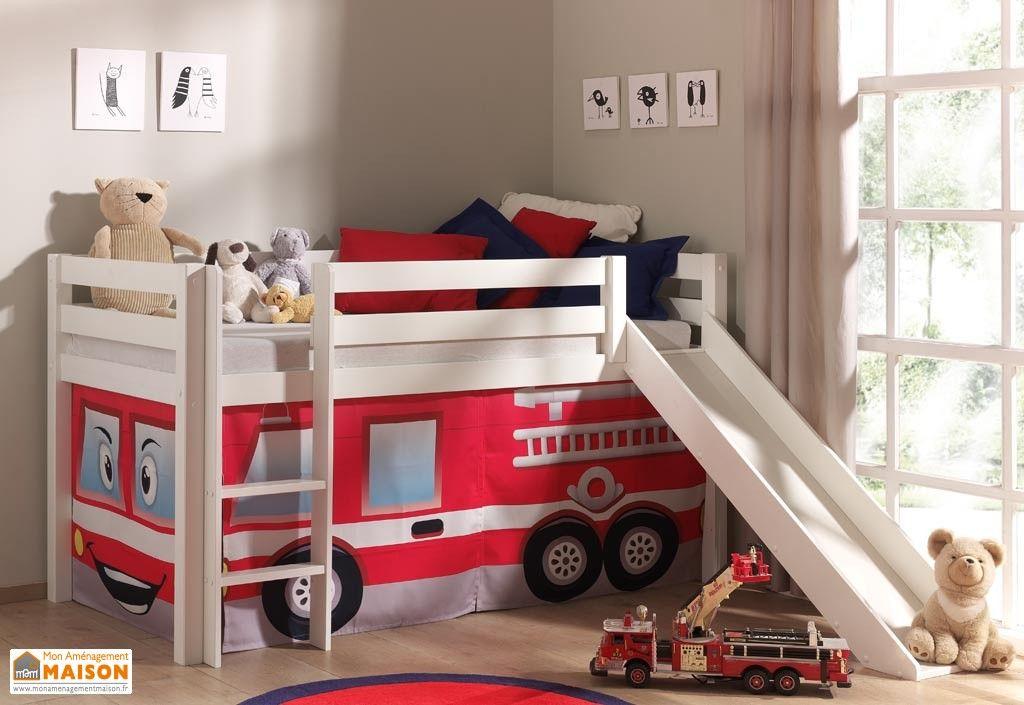 lit mezzanine enfant avec toboggan cabane sous le lit 8 d cors chambre d 39 enfant bed. Black Bedroom Furniture Sets. Home Design Ideas