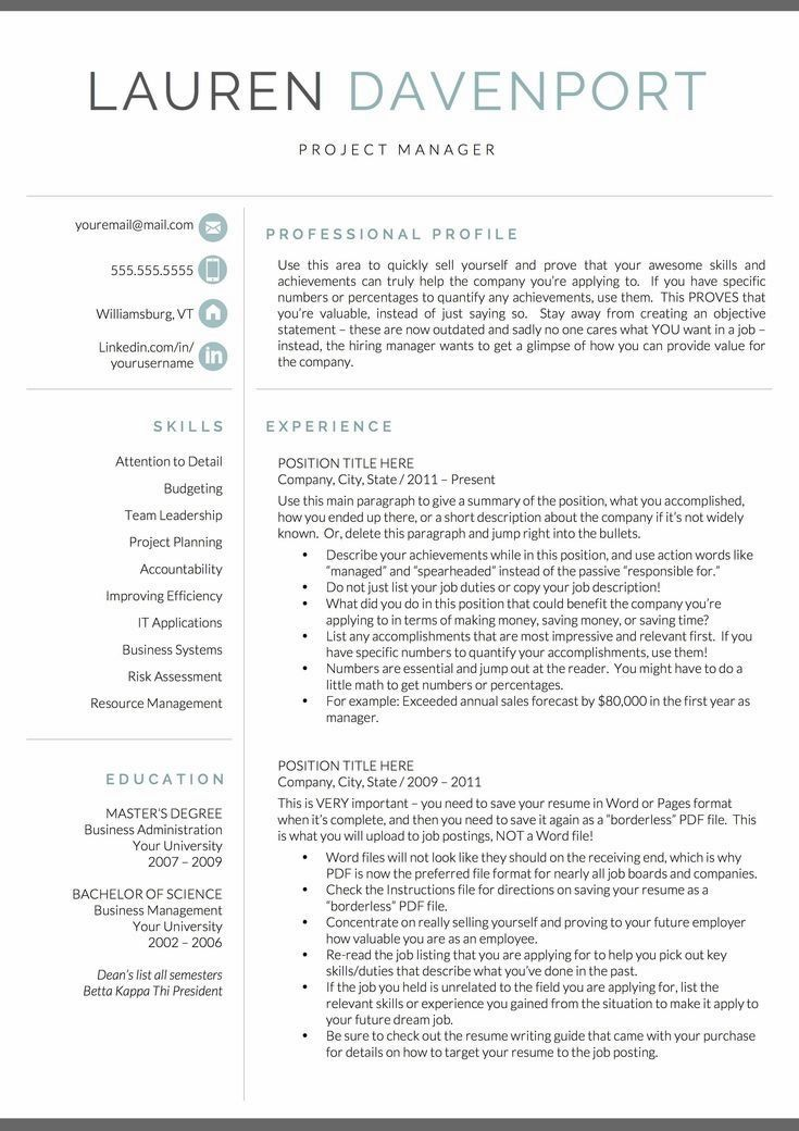 Resume for Marketing, Resume for Sales Resume for Word