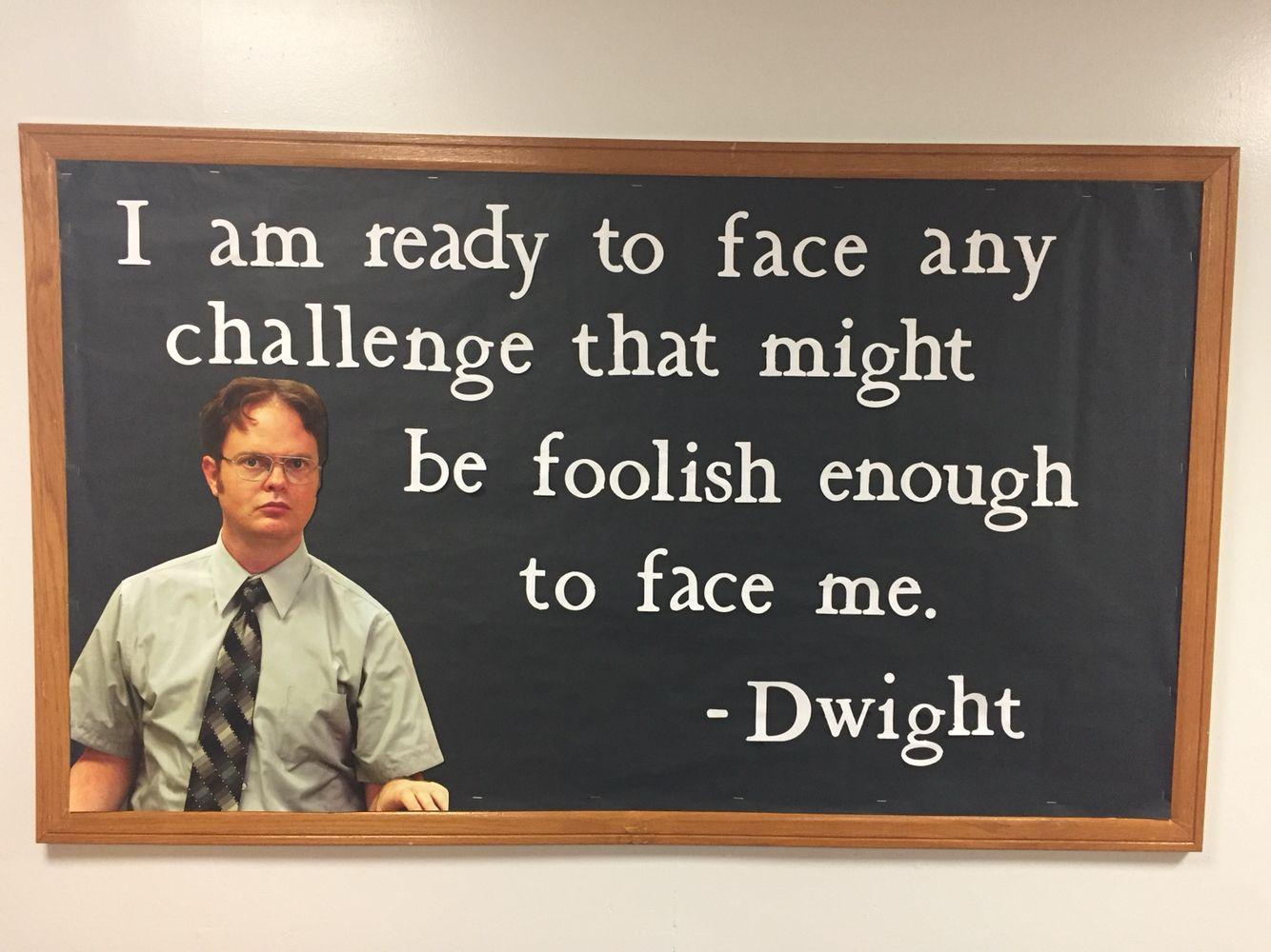 The Office Dwight Quote RA Bulletin Board Idea