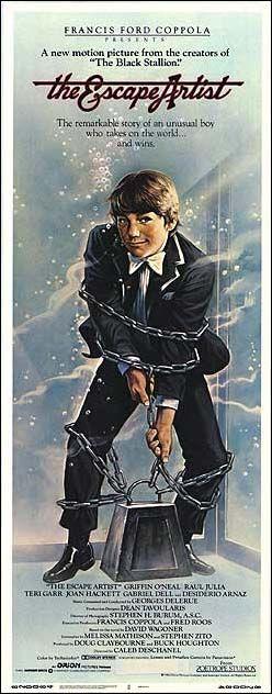 The Escape Artist 1982 Stars Raul Julia Griffin O Neal Desi Arnaz Teri Garr Joan Hackett Jackie Coogan Classic Movie Posters Raul Julia Black Stallion