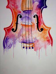 Image Result For Violin Watercolor
