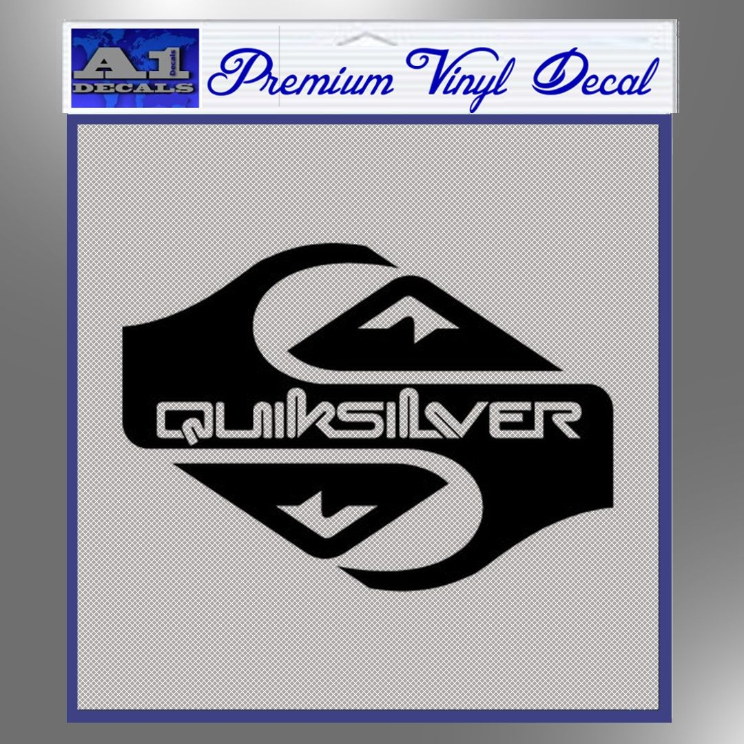 Quicksilver Clothing Decal Sticker D1 A1 Decals For Car Laptop Mac Book Wall Stickers Vinyl Decals Silhouette Design [ 1080 x 1080 Pixel ]