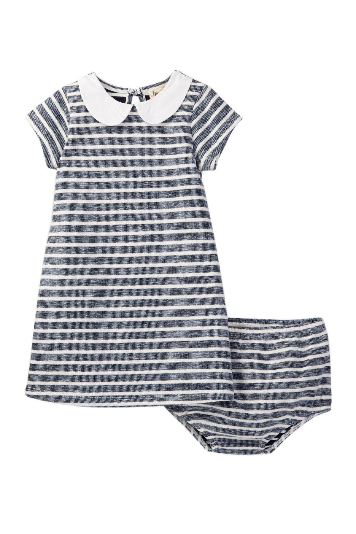 fa5c92689c51 Blue Striped Peter Pan Collar Dress   Bloomer Set (Baby Girls   Big ...
