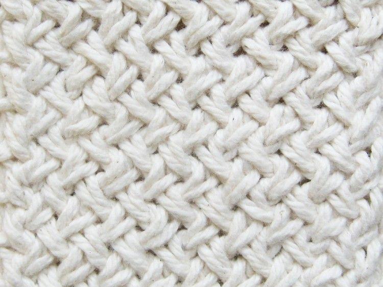 Diagonal Basketweave Knitting Pattern | Tejido, Puntadas y Puntos