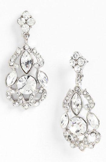 chandelier earrings. swoon. | Black & White Wedding Ideas ...