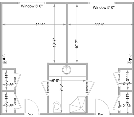 Here is the floor plan of a typical layout of a baldwin for Baldwin floor plan