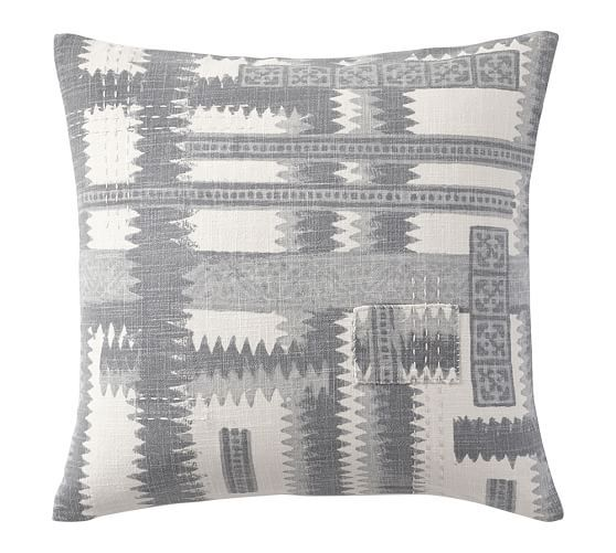 Zig Zag Shibori Print Pillow Cover