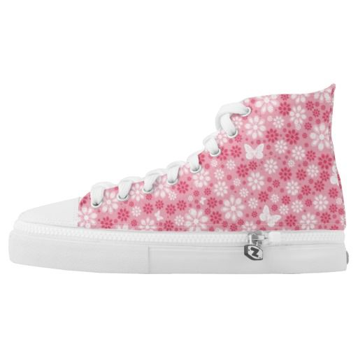 Flowers And Butterflies Printed Shoes