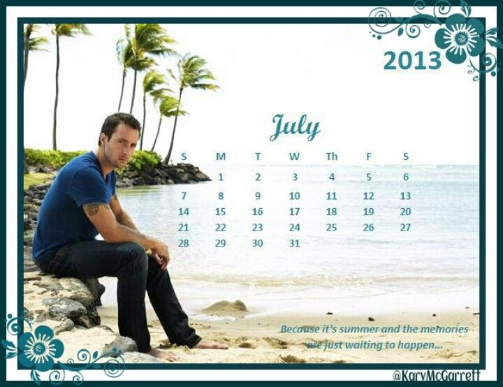 July 2013 Alex O'loughlin