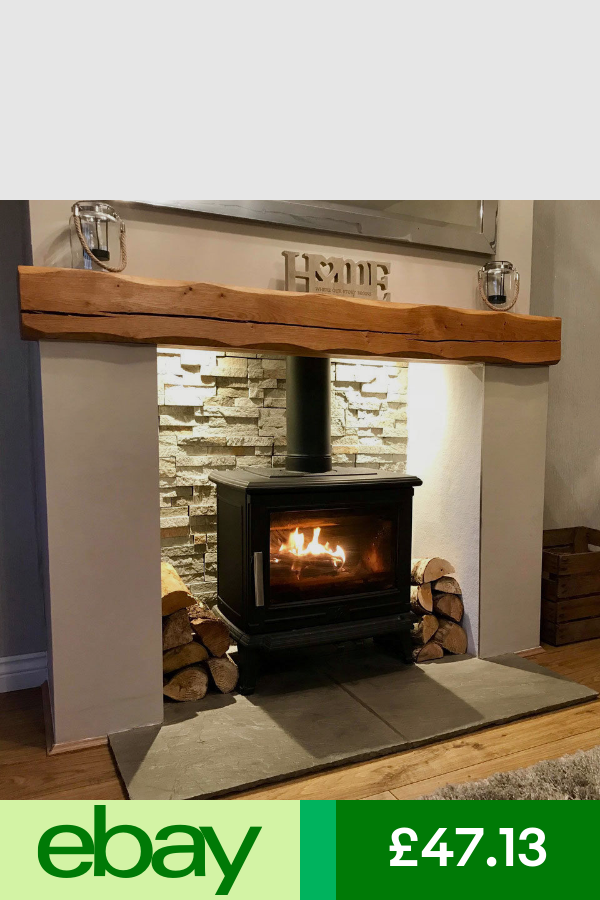 Solid Oak Beam Fireplace Mantle Lintel Floating Shelf Mantelpiece Timber Oak Beam Fireplace Log Burner Living Room Cottage Fireplace
