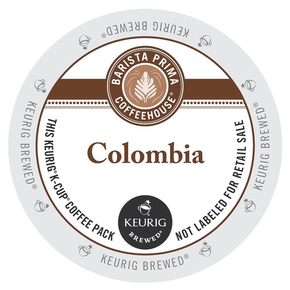 Barista prima coffeehouse colombia coffee kcup portion