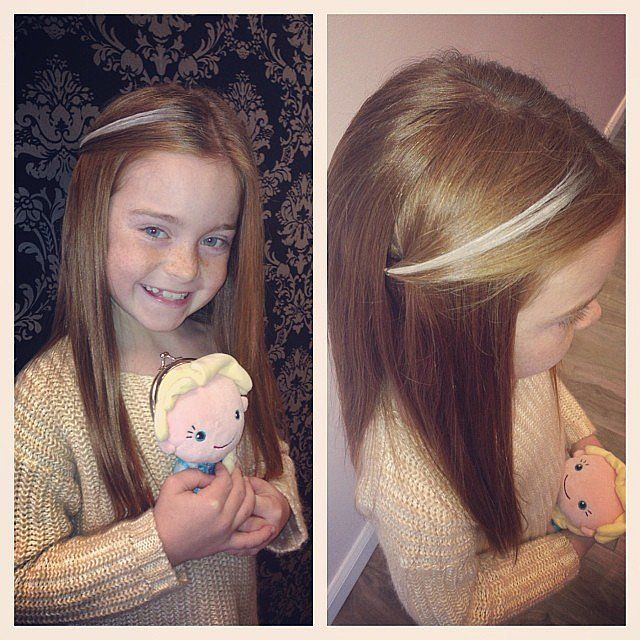 A Snowflake Inspired Pony Straight Hair Hair Extensions And