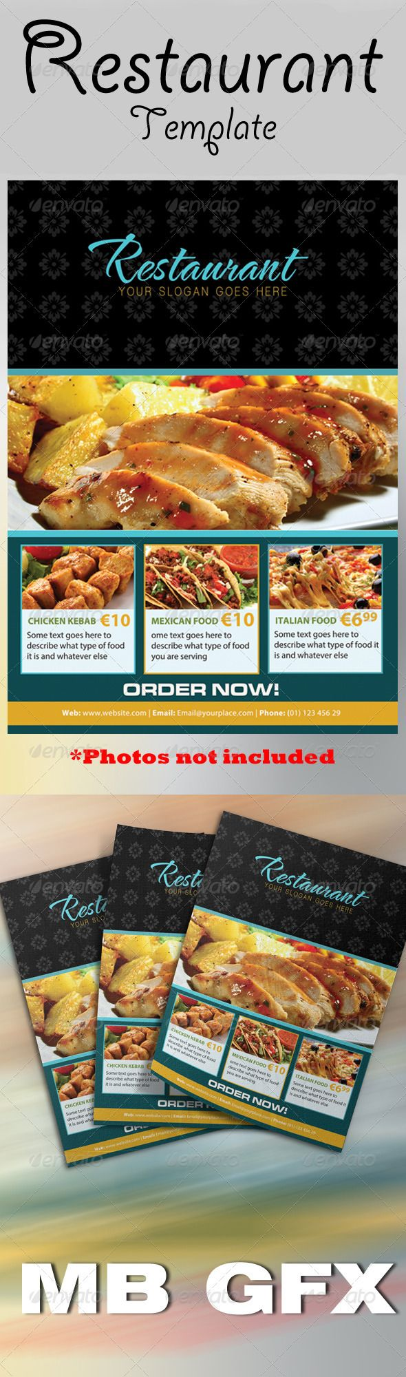The Restaurant Flyer  Cafe Restaurant Flyer Template And Restaurants