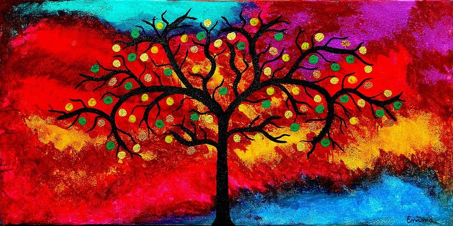 best-art-choice-award-original-abstract-oil-painting-modern-trees ...