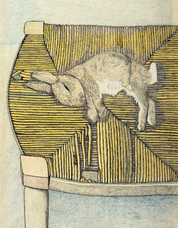 Lucian Freud - Rabbit on a chair - 1944