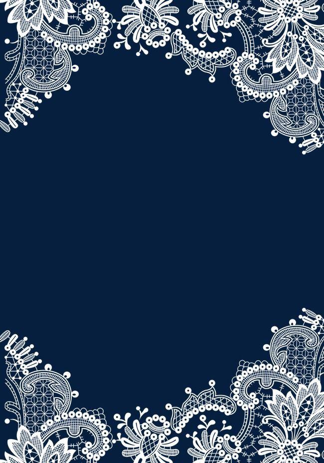 Lace Pattern Border Flower Background Wallpaper Lace Pattern Ornaments Design