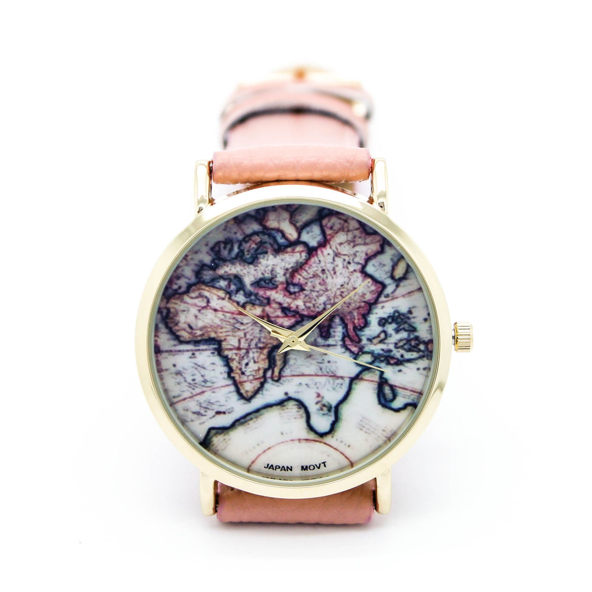 World map watch 5 colors map watch stainless steel and steel world map watch 5 colors gumiabroncs Image collections