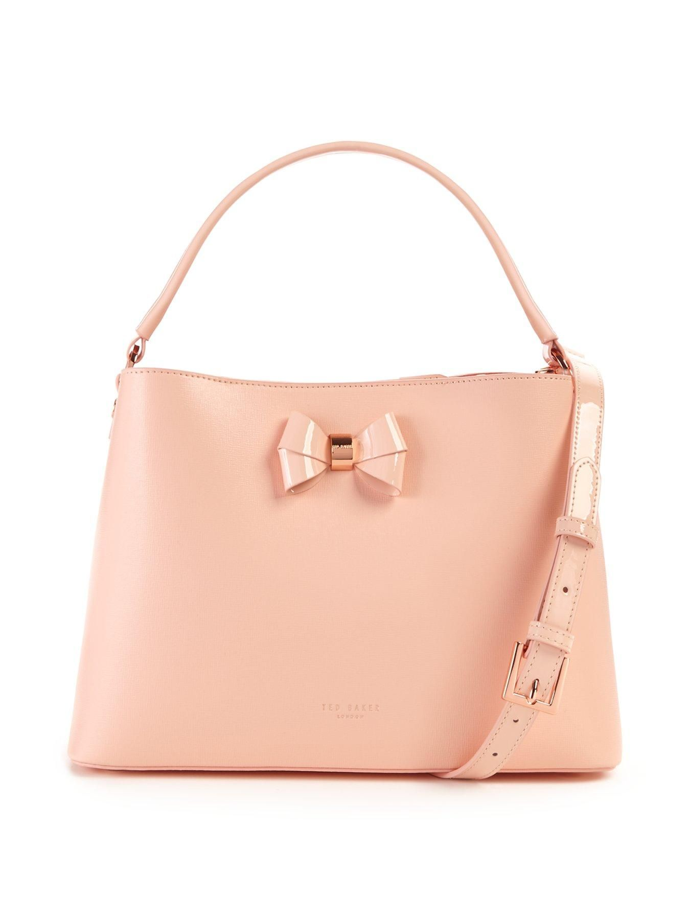 d9bd520d7 Ted Baker Leather Bow Tote Bag – Peach Ted Baker continues with his passion  for designing