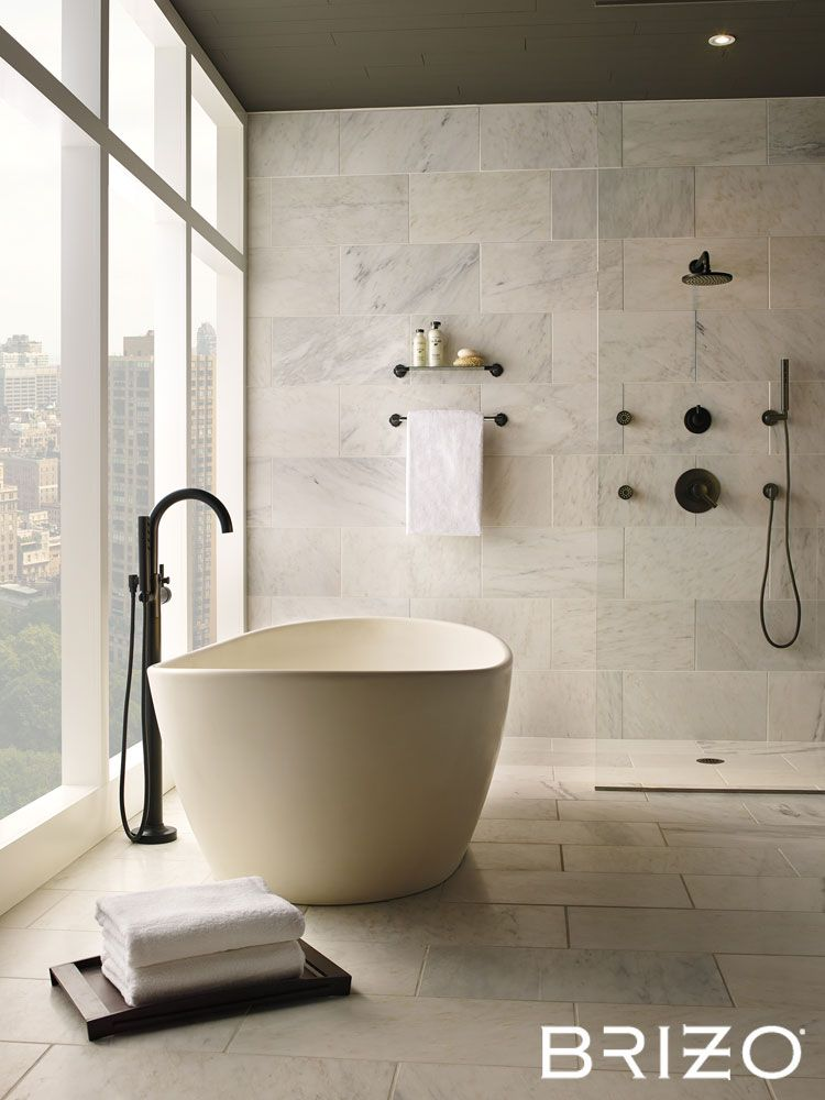 Jason Wu for Brizo faucets & MTI Baths Elise tub in biscuit ...