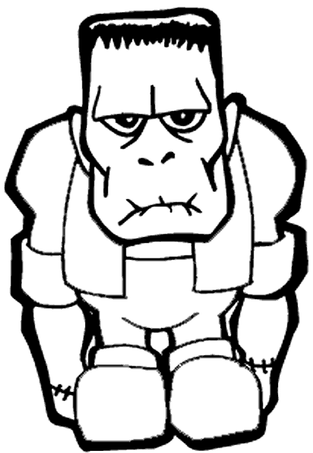 Frankenstein\'s monster will be much happier once you color him in ...